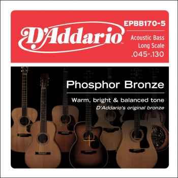 D´addario EPBB170-5 Phosphor Bronze 5 cuerdas para bajo